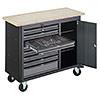 Pracovný stôl pojazdný s 256-dielnou sadou náradia VIGOR V5156